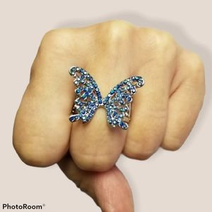 🔥2/$30🔥 Butterfly Orchard Blue Ring